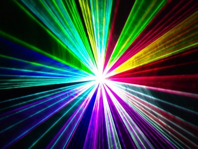 mooie kleuren voor een lasershow