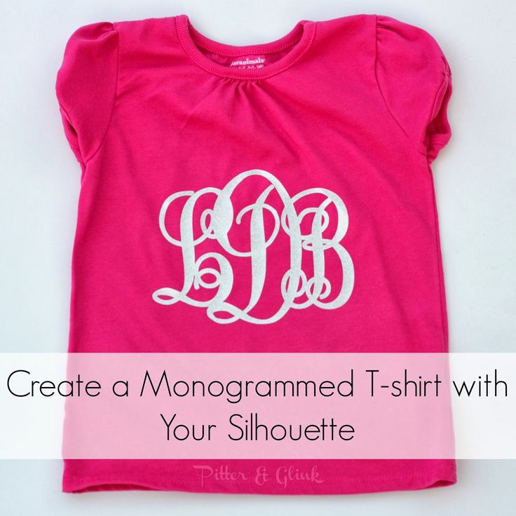 Create a Monogrammed T-shirt with Silhouette Heat Transfer Material: A Tutorial from Pitter and Glink #silhouette #monogram #tshirtrefashion