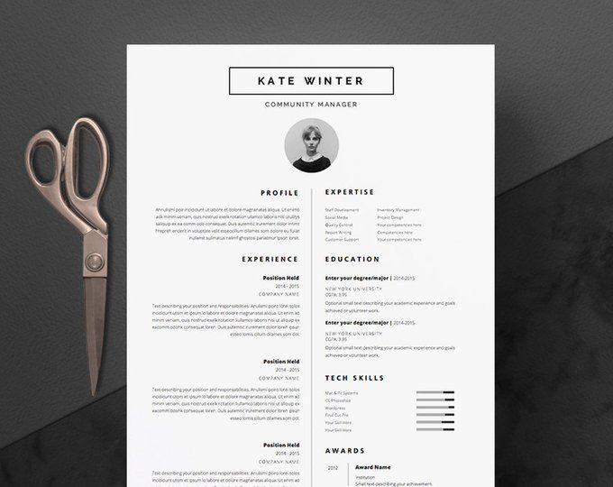 Plantilla De Curriculum Vitae Moderno Y Carta De Presentacion Etsy Lebenslauf Vorlagen Word Professioneller Lebenslauf Lebenslauf Design