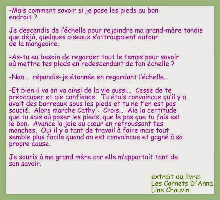 en apprentissage du bonheur: extrait # 2 - Les Carnets D'Anna / Line Chauvin