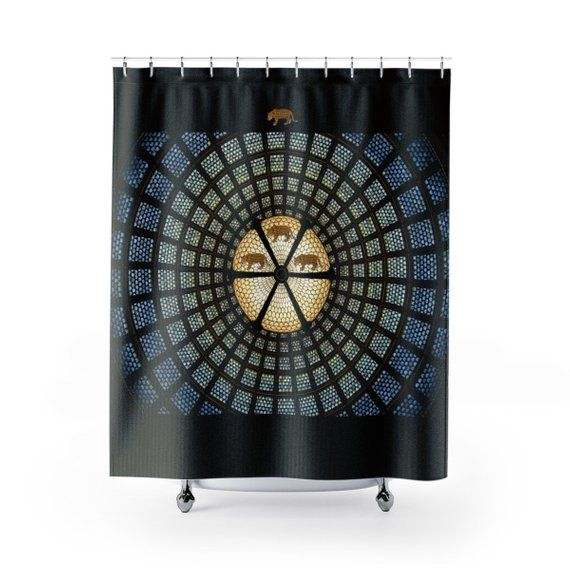 Cheetah Shower Curtain Wild Animal Shower Curtain Leopard Shower