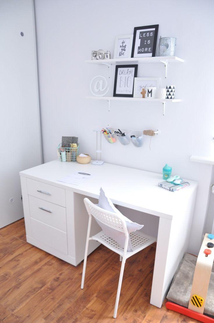 Blogerka bloggroszkowej.pl poleca białe biurko
