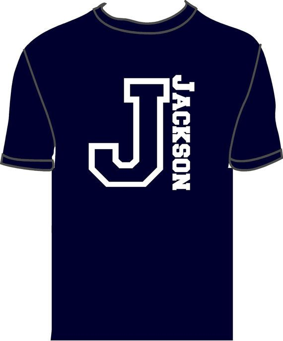 Boys Personalized Shirt with Initial and by tillot3sonsgraphics