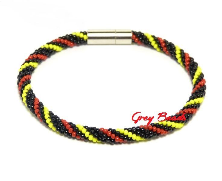 Grey Beads: Minimalistyczna, koralikowa bransoletka męska