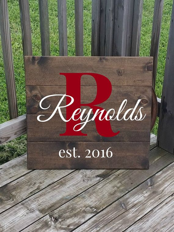 Large Wooden Name Sign  Rustic Last Name by RusticLaneCreations