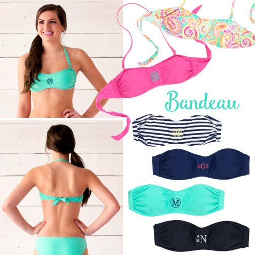 Bandeau Monogram Swim Top