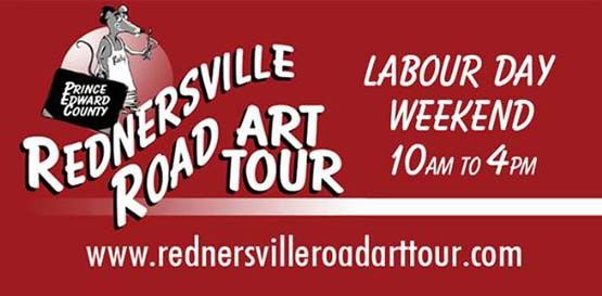 Rednersville Road Art Tour Labour Day Weekend from 10 am to 4 pm, September 5, 6, 7, 2015. Along the shore of the Bay of Quinte from Highway 62 at Rossmore.