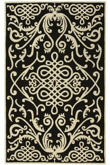 I'm not sure I'd actually want to own this, but I love how it's a traditional pattern at a more modern scale.