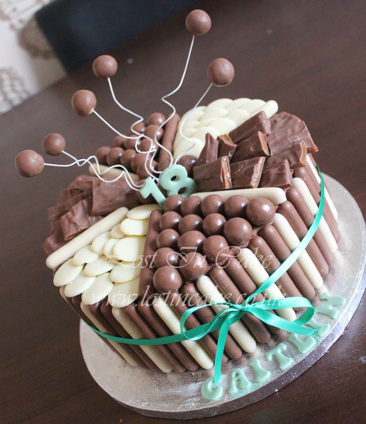 Chocolate Explosion Cake - Maltesers, White Chocolate Buttons  Diam Bars