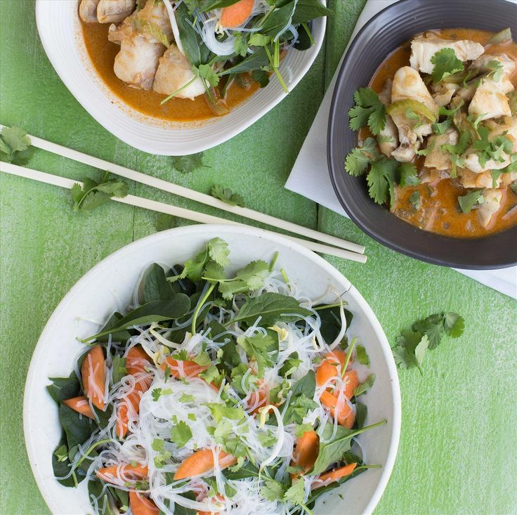 My Food Bag - Nadia Lim - Recipes - Red Coconut Curry Fish with Vegetable Vermicelli Noodles