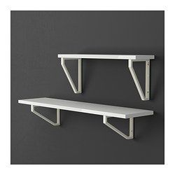 "EKBY TONY Shelf - high gloss white, 46 7/8x11 "" - IKEA"