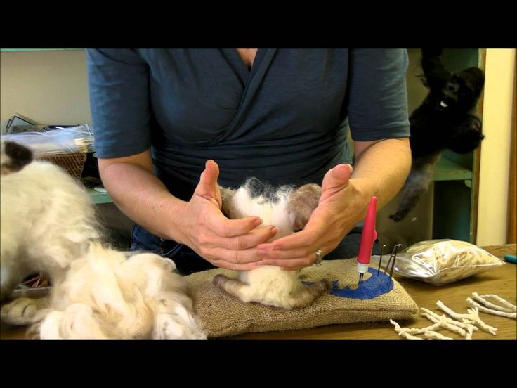 How To Needle Felt - Attaching Long Fibers: Sarafina Fiber Art Episode 7