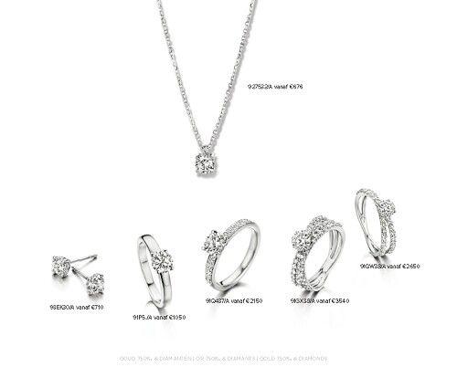 Witgouden sieraden met briljant bij Van Leeuwen Juwelen Barendrecht