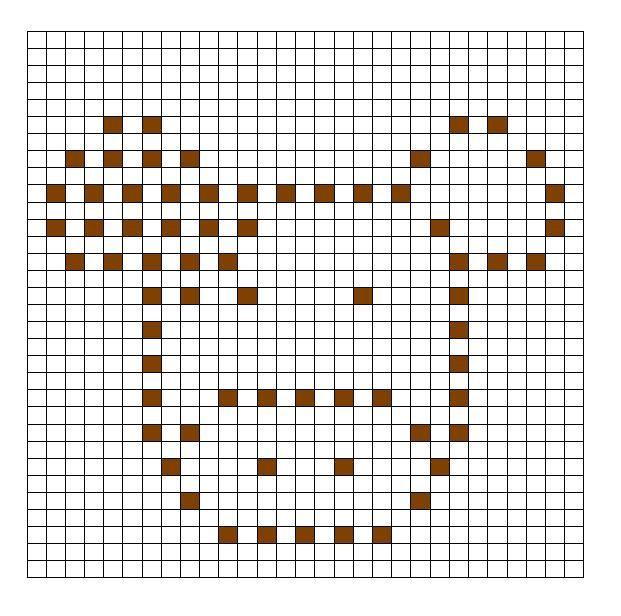 Crochet Bobble Stitch Pattern Cow