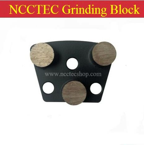 32.33$  Watch now - http://aik0b.worlditems.win/all/product.php?id=32240721580 - fan-shaped NCCTEC Grinding blocks with 3 round circular diamond Segments FREE shipping | metal bond concrete grinding pads shoes