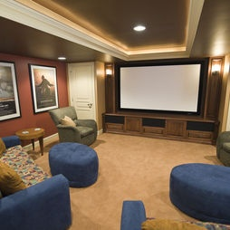 Finished Basement Media Room Design, Pictures, Remodel, Decor And Ideas    Page 2
