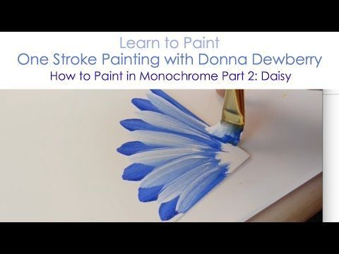 One Stroke Painting with Donna Dewberry - How to Paint a Rosebud Wreath, Pt. 3: Wysteria & Bows - YouTube