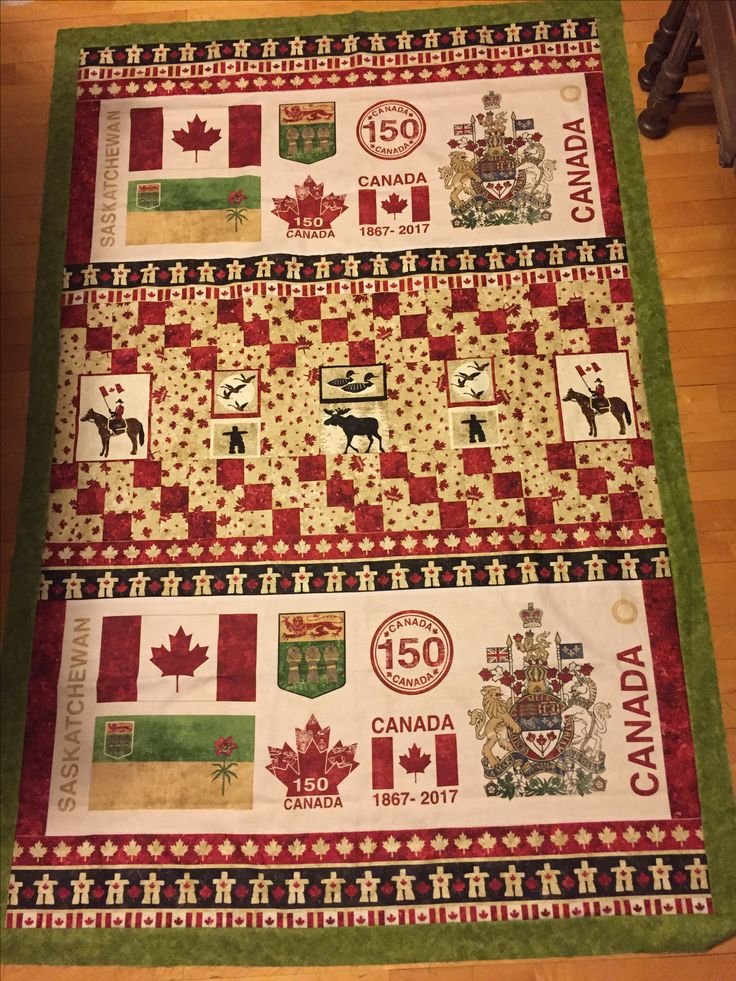 Canada 150 quilt top, Saskatchewan edition