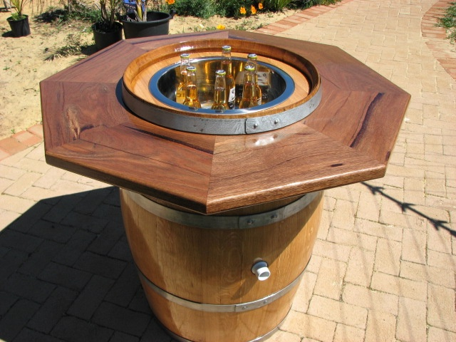 wine barrel table top -this is a cool idea-keep your beer or wine cold :) |  Wine and whiskey barrel ideas | Pinterest | Barrel table, Wine barrel table  and ... - Wine Barrel Table Top -this Is A Cool Idea-keep Your Beer Or Wine
