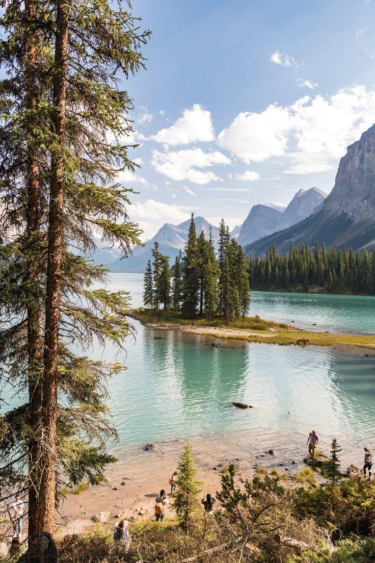 Spirit Island Maligne Lake Banff Jasper Nationalpark In Kanada Usa Reise Amerika Reisen Kanada Reisen