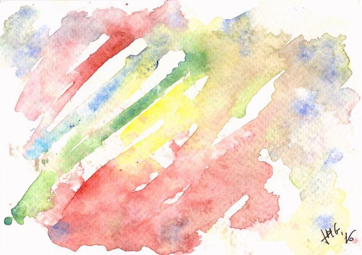 Waterlight 1. Postcard-  watercolor, paper