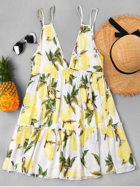 48ae2d48880c Lemon Print Cami Dress