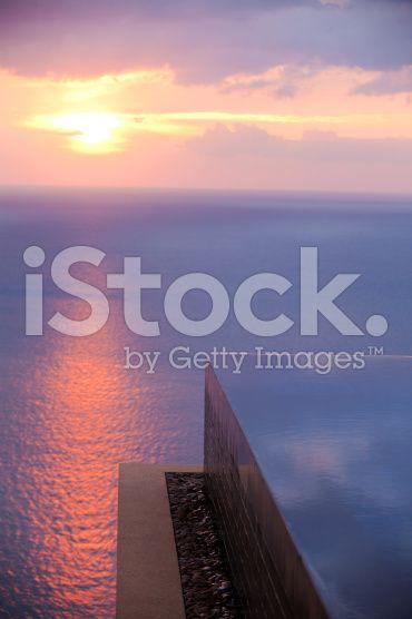 hotel resort infinity pool horizon over water royalty-free stock photo