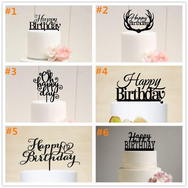 Бесплатная доставка с днем рождения акриловые торт топпер рождения ну вечеринку торт Toppe душа ребенка торт топпер первые торт ко дню рождения стенд