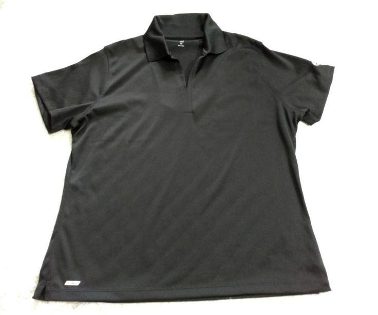 Vansport Black Golf Sport Polo Shirt Women Size L #Vansport #PoloShirt #Casual