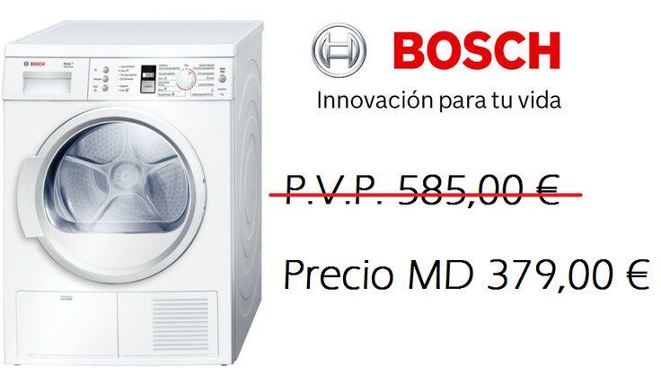 BOSCH Secadora WTE8632PEE -- 379 € Secadora condensación - 7 kg. http://www.materialdirecto.es/es/7kg/34304-bosch-secadora-wte8632pee-4242002707709.html