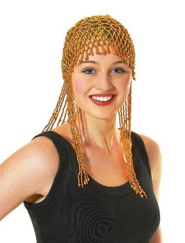 Gold Beaded Headdress 1920s Flapper Egyptian Abba Fancy Dress
