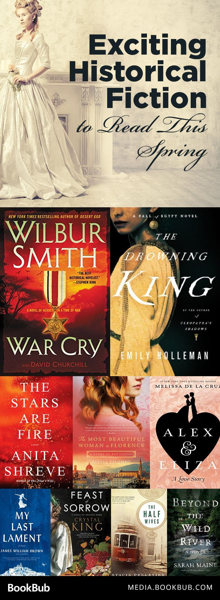 10 exciting historical fiction novels to read this spring. Including novels inspired by true stories.