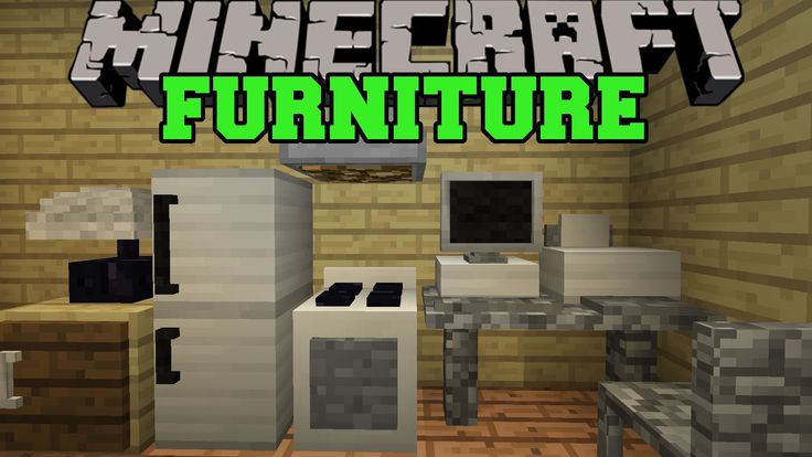 Minecraft: FURNITURE MOD (COMPUTER, TV, FRIDGE, OVEN, COUCH, & MORE!) Mo...