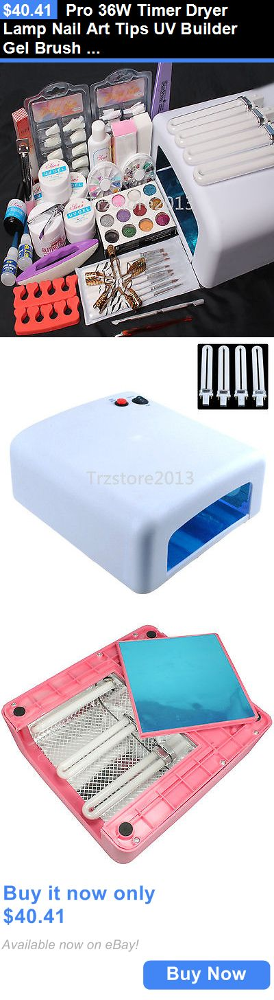 Nails: Pro 36W Timer Dryer Lamp Nail Art Tips Uv Builder Gel Brush Decorations Kits Set BUY IT NOW ONLY: $40.41