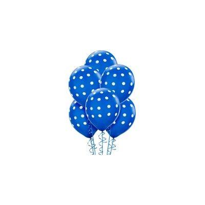 6 globos de lunares de color azul marino  http://www.articulos-fiestas-infantiles.es/567-globos-con-lunares-y-lisos