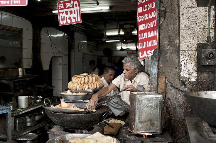 Il venditore di samosa #india #dehli