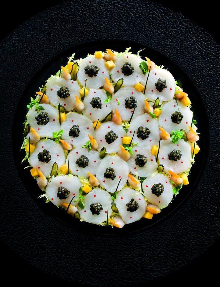Scallop and caviar salad, tangy mango marinade - Four Seasons George V, Paris