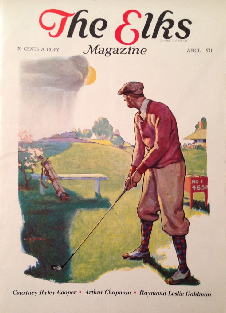 The Elks Magazine April 1931 Golf Cover