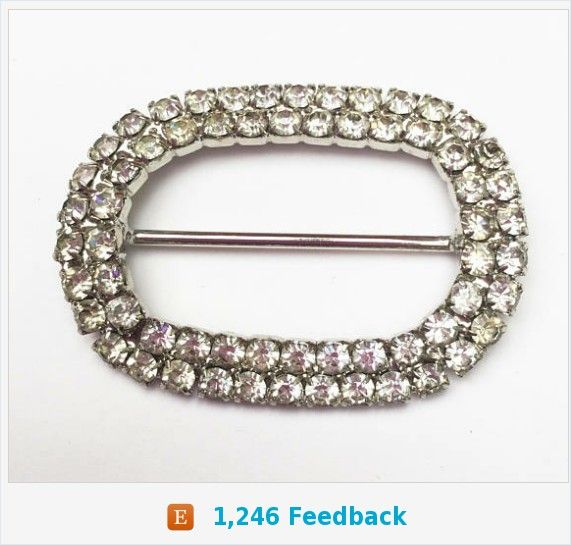 Rhinestone belt buckle - silver metal - scarf ring - Clear Crystal - oval https://www.etsy.com/serendipitytreasure/listing/583597001/rhinestone-belt-buckle-silver-metal?ref=shop_home_active_1