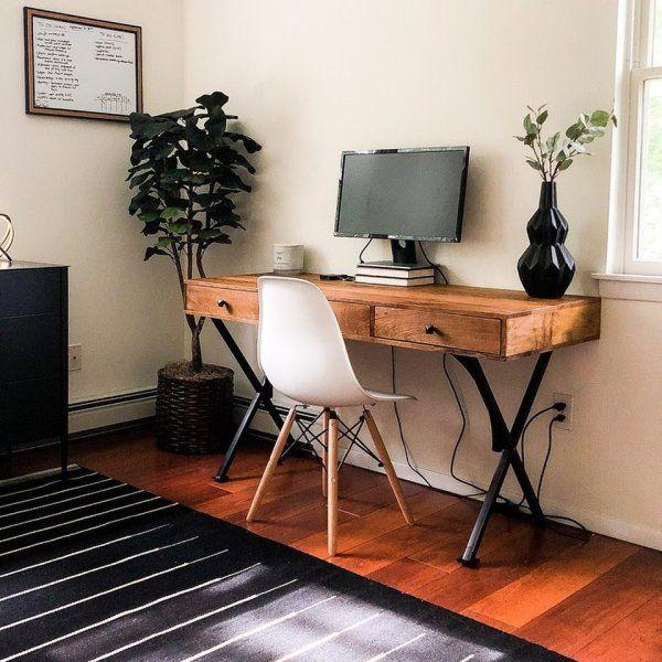 Metro Weathered Java Desk Pier 1 Home Office Decor Guest Bedroom Office Desk