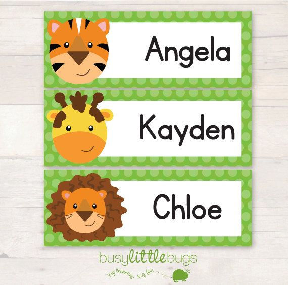 JungleThemed Editable Classroom Name Labels by BUSYLITTLEBUGSshop