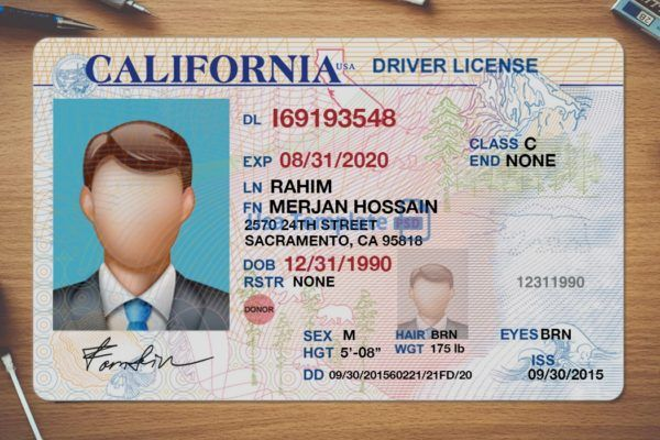 California Driver License Psd Template High Quality Driving Template Drivers License Drivers License California Ca Drivers License