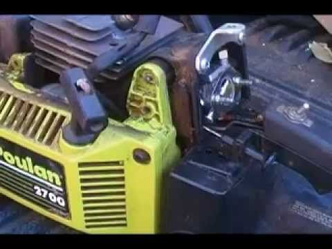 HOW TO ADJUST POULAN CHAINSAW CARBURETOR - YouTube