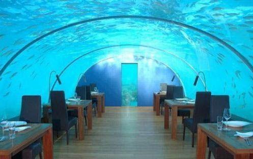 Jules Undersea Lodge Restaurant,  Key Largo, Florida.