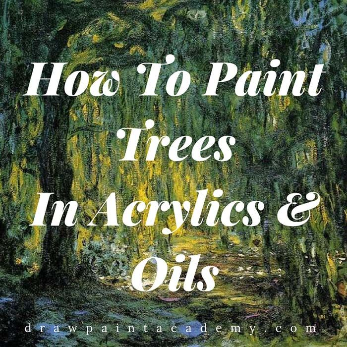 How To Paint Trees In Oil and Acrylics   Here are some tips on how to paint trees which can be applied broadly to your paintings (rather than specific tips only useful in special circumstances).  Trees form part of pretty much any landscape composition and are a subject which painters need to become familiar with.  Most beginners paint trees in a very refined and rigid manner, often giving an unnatural feel to the painting. These tips should help you learn how to paint trees which appear…