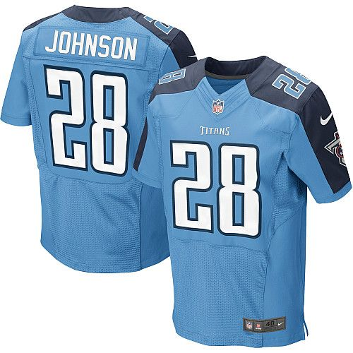 Youth Nike NFL Tennessee Titans #28 Chris Johnson Elite Team Color Light Blue Jersey$79.99