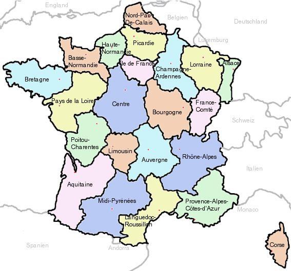 Frankreich Regionen