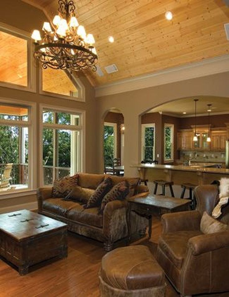 The Best Vaulted Ceiling Living Room Design Ideas 23 in ...
