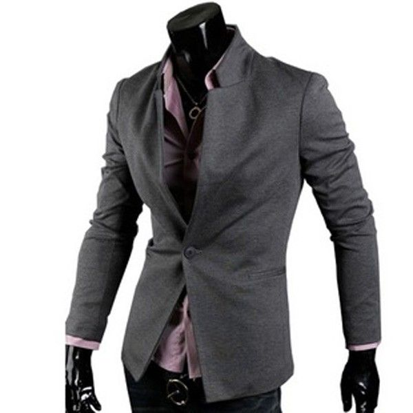 Men's  Slim One Button Formal Business Suit Blazer via martEnvy. Click on the image to see more!