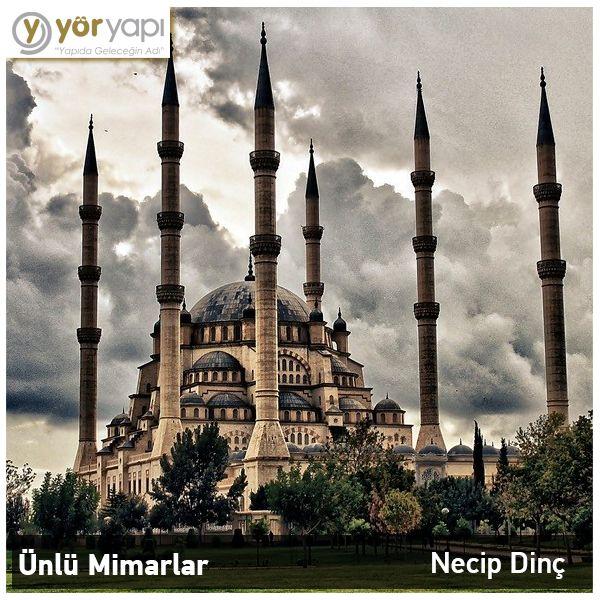 #ÜnlüMimarlar | Necip Dinç günümüzün Mimar Sinan'ı olarak anılıyor, Adana'daki Türkiye'nin en büyük camisi olarak bilinen Sabancı Merkez Camii ise en bilinen eseri…